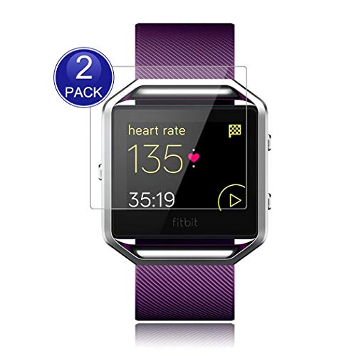 X-Dision [2 Stück] HD Displayschutzfolie Kompatibel mit Fitbit Blaze, 0,26 mm HD Schutzfolie, 9H Glas Schutzhülle, Anti-Kratz und Anti-Fingerabdruck, mehr Schutz