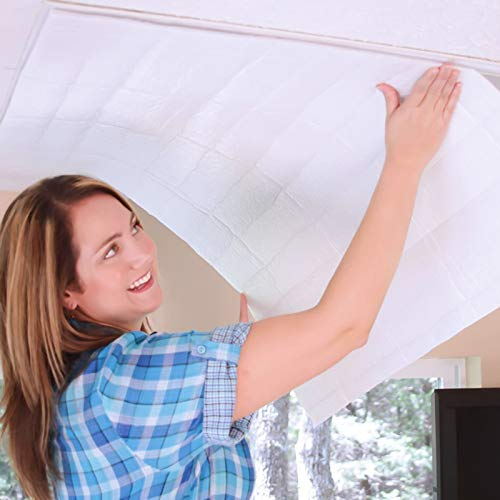 Sanheng Building Products Dachbodenträger Dachbodenventilator-Abdeckung, Isolierabdeckung, Ventilator-Lüftungsabdeckung, Dachbodendämmung, 35,4 x 50,7/128,8 x 128,8 cm (klein)
