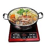DXENXPG Olla Caliente Pote Caliente de Acero Inoxidable Shabu Hot Pot Durable para la Estufa de Gas de Cocina de inducción eléctrica Cacerolas de Cocina (Color : Silver, Size : 28cm)