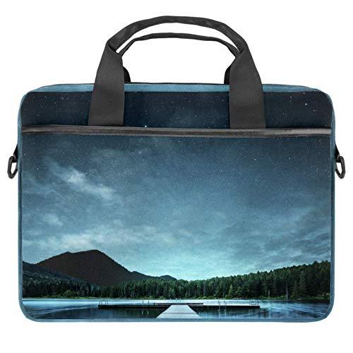 Laptop-Tasche, Handtasche, Aktentasche, Landschaft, See, Nacht, Gateway, 38,1 x 13,7 cm