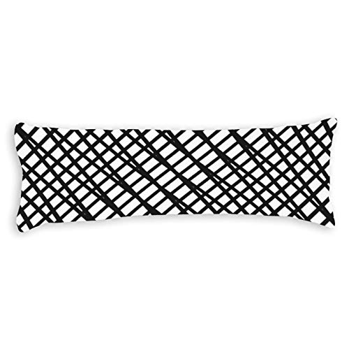 Promini Funda de almohada con cierre de cremallera oculta para sofá, banco, cama, decoración del hogar, 50,8 x 137,1 cm