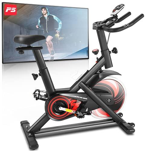 Profun Fitness Heimtrainer Hometrainer Fahrrad 150kg mit App-Verbindung,LCD-Display,Handpulssensoren,für Sportler und Anfänger