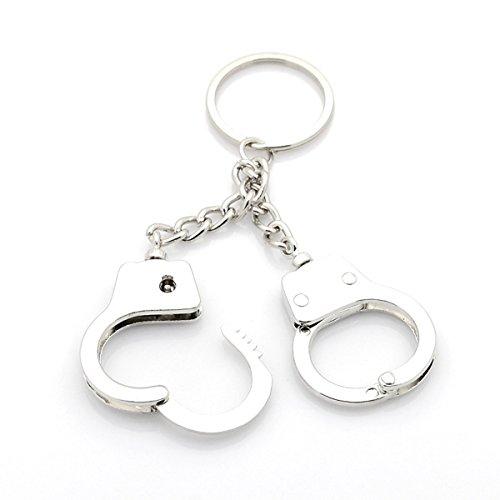 2 handboeien sleutelhanger sleutelring zakhanger hanger handcuffs