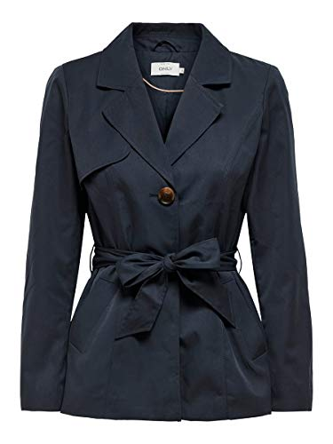 Only Onlwinnie Trenchcoat CC Otw Gabardina, Night Sky, S para Mujer