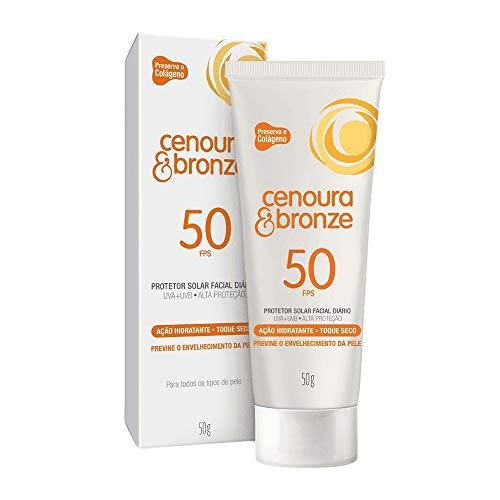 Protetor Solar Facial Cenoura e Bronze Fps50 50G, Cenoura e Bronze
