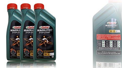 3x 1 L = 3 Liter Castrol Magnatec 5W-30 C2 Motor-Öl Motoren-Öl; Spezifikationen/Freigaben: ACEA C2; PSA Freigabe B71 2290; Meets Fiat 9.55535-S1
