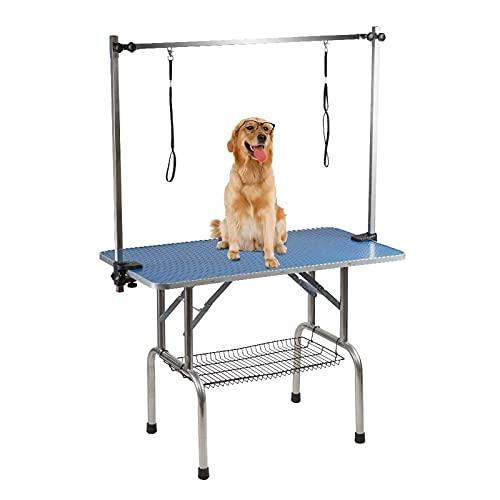 FACAZ Mesa de Aseo para Mascotas Plegable (36