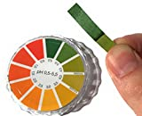 pH Test Strips for Kombucha Brewing Precise Acidity Test Paper Roll with Dispenser and Color Chart...
