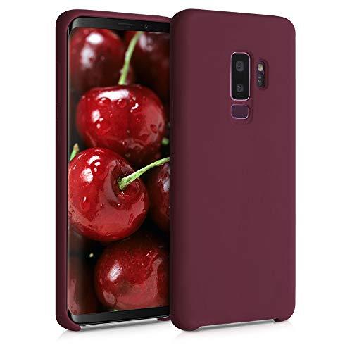 kwmobile Funda Compatible con Samsung Galaxy S9 Plus - Carcasa de TPU para móvil - Cover Trasero en Rojo Vino