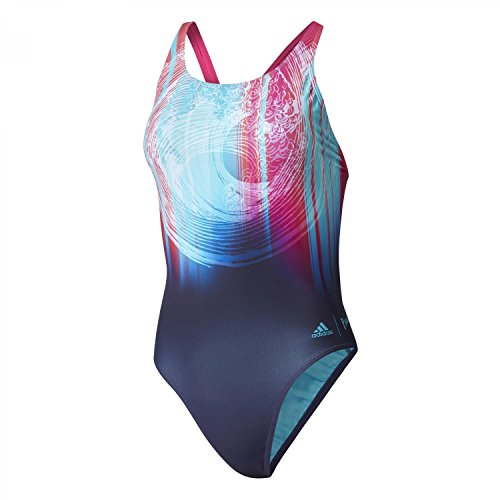 adidas Damen Performance Inf P Badeanzug, Noble Ink/Energy Blue/Energy Aqua, 42