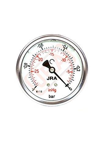 JRA-Glyc/érine Longlife de manom/ètre 0 1/Bar//PSI ng63/Raccord bas G1//4/