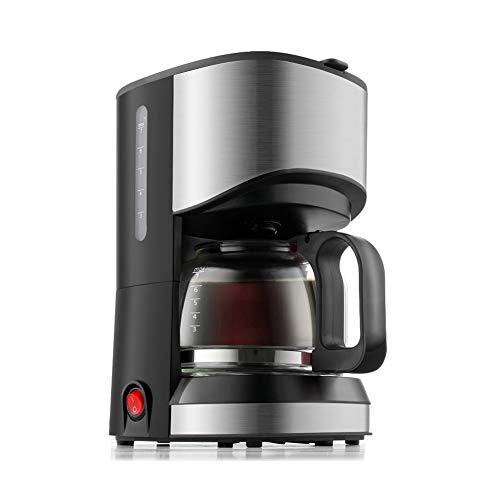 Cafetière Filtre, Cafetière Programmable, Moulin à Café, Manche Filtre Machine à Café, 700ml, Noir Et Rouge(Black)