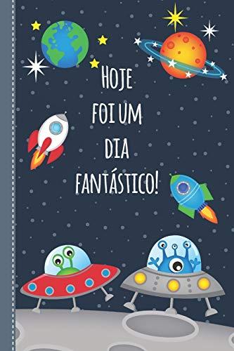 Diário para crianças: Diário positivo para preencher para meninos e meninas - livro de presentes - por 4 meses - design aeroespacial