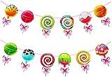 HaMoSena Candy Banner Candyland Banner, Geburtstag Girlande Banner,Geburtstag Wimpelgirlande für Kinder Mädchen Baby Shower Geburtstagsfeier Dekorationen