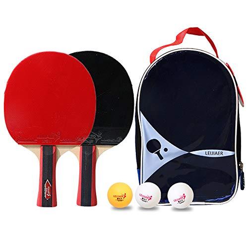 Ping Pong Juego de Tenis de Mesa Portátil, Morbuy Red de Tenis de Mesa retráctil (con 2 Raquetas, 3 Pelotas, una Bolsa) para Escuela Familia Interiores Exteriores (Negro Rojo)