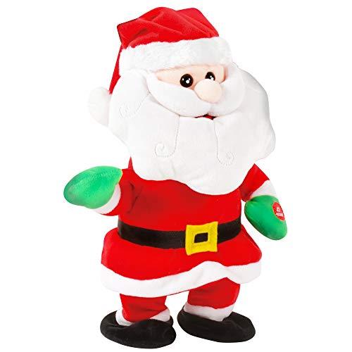 DODO D'AMOUR - Peluche Animado de Papá Noel, 191283-30 cm, Rojo y Blanco, Pilas Incluidas, a Partir de 3 años, 191283