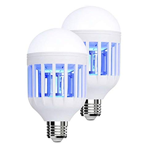 Maxtrv 2 Pack Bug Zapper Light Bulbs Mosquito Trap - UV LED Mosquito Killer Lamp, Electronic Insect & Fly Killer for Outdoor and Indoor