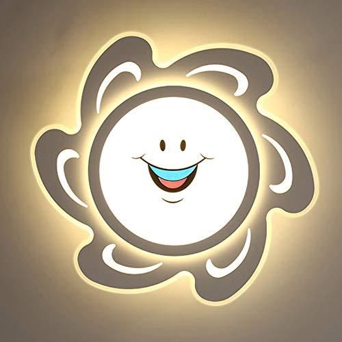ZKLNO Lámpara Techo para Habitación Niños Moderna Sencilla, Lámpara Techo Sala Estar para Dormitorio Niño Niña Creativa Decoración De Dibujos Animados De Jardín De Infantes Lámpara Ocio,36w 52 * 8cm