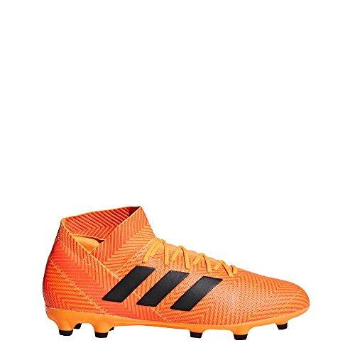 adidas Men's Nemeziz 18.3 Firm Ground Soccer Shoe, Zest/Black/Solar red, 11.5 M US