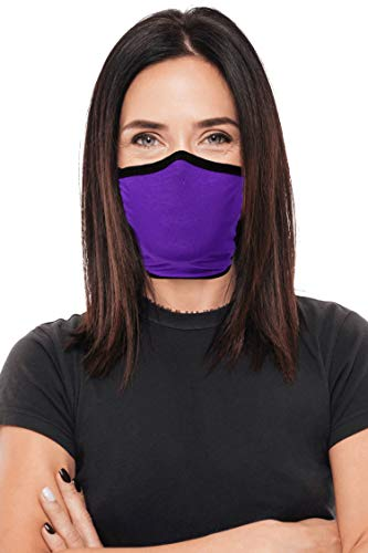 Face Mask 2 Pack Adult Reversible Double Layer Knit Washable Made in the US