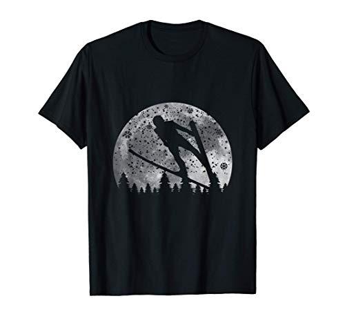 Skispringen Mond, Winter Skispringen T-Shirt