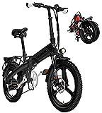 Bicicleta eléctrica de nieve, Adultos Electric Bike, Urban plegable de cercanías E-bike, Velocidad máxima 25 kilometros / h, 20 pulgadas super ligero, 400W / 36V extraíbles de carga de la batería de l