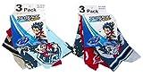 Beyblade Burst ¡Déjalo arrancar! Calcetines azul, rojo, azul oscuro/gris con varios diseños de Valt y Shu, para niños, niños como paquete de 6 (27/30)