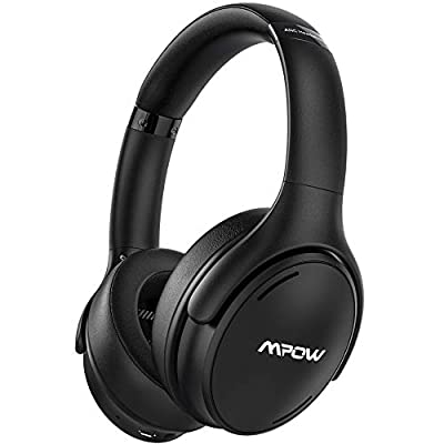 Mpow Noise Cancelling Headphones, 35Hrs HiFi Stereo Over Ear Headphones Bluetooth 5.0, Quick Charge, Foldable Wired Wireless Headset with Pouch, CVC 8.0 Mic for Adult Kid Work Travel Online Class by Mpow
