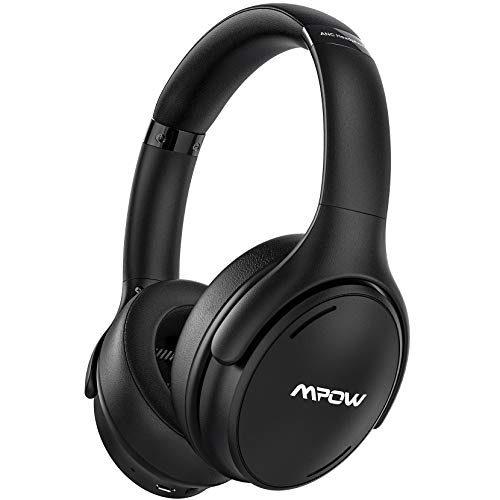 Mpow H19 IPO Active Noise Cancelling Headphones, Bluetooth 5.0 Headphones with CVC8.0 Mic, Fast Charge, 35H Playtime, Deep Bass Wireless Wired Headset for Kids, Adults, TV, Online Class, Home Office