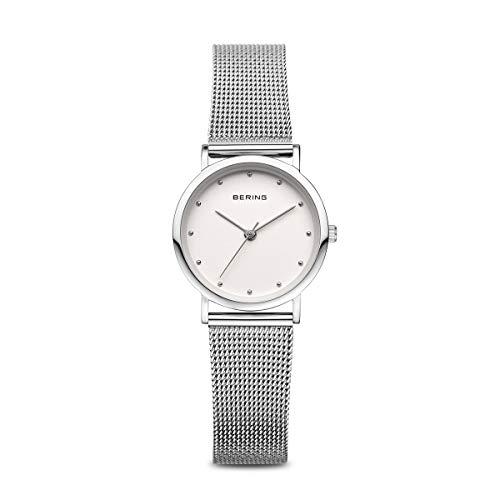 BERING Damen Analog Quarz Classic Collection Armbanduhr mit Edelstahl Armband und Saphirglas 13426-000
