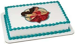 MAKCreationsCakeSupply Elena of Avalor Licensed Edible Cake Topper #42530,Multicolor,1/4 Sheet
