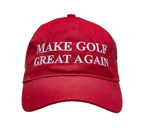 Golf Addiction - Make Golf Great Again - Funny Golf Hat Cap Red