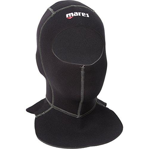 Mares Flexa 6.4.3mm Mens Scuba Diving Hood w/Bib (Black, X-Large)
