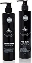 Royal Locks Pro Curl Cream Gel and Dream Cream | Curl Defining Cream Gel Set for Curly and Wavy Hair | with Argan Oil | Pack of 2