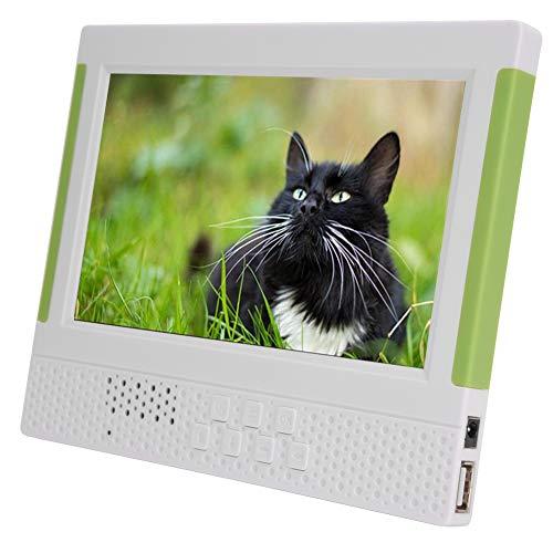 7in 16: 9 1024 * 600 Ultradunne digitale fotolijst, ondersteuning voor video/foto afspelen/muziek/klokkalender, elektronische beeldweergave met beugel, infrarood afstandsbediening (Wit)
