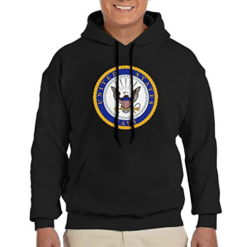 US Navy Department Seal Herren Hoodie Mode Adult Sweater Hooded Pullover Big Pockets M.