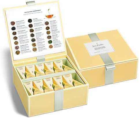 Tea Forte Organic Assorted Variety Tea Sampler Tea Tasting Tea Chest Gift Box with 40 Handcrafted product image