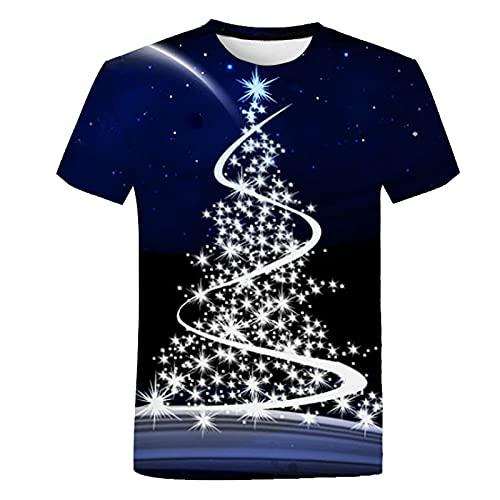 SSBZYES Camiseta De Verano para Hombre, Camiseta De Talla Grande para Hombre, Camiseta De Pareja, Camiseta De Verano para Hombre, Parte Superior del árbol De Navidad De Moda