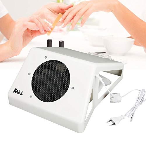 Limpiador profesional de succión de polvo de uñas 65W, aspirador de salón de gran potencia Colector de polvo de aspiradora de uñas Máquina de succión de polvo de uñas con ventilador(EU)