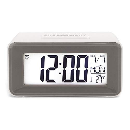 Running Réveil numérique LED pour étudiant avec fonction de répétition de la semaine, thermomètre, calendrier, minuteur de bureau