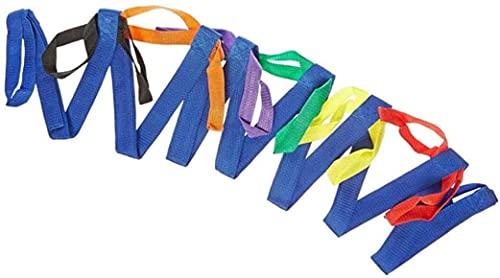 Cuerda Para Caminar Con Niños, Nylon Durable Ligero Cuerdas para Caminar con Seguridad para niños Lazos con Asas de Colores para hasta 12 niños 2 Maestros