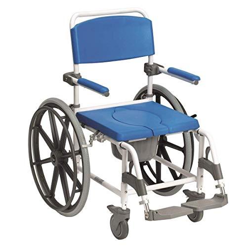 "Drive Medical Dusch-Toilettenrollstuhl Aston 24"" Räder weiß-blau"
