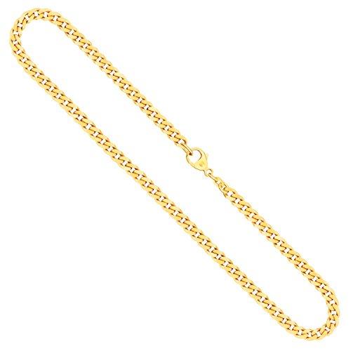 Goldkette, Panzerkette flach Gelbgold 585/14 K, Länge 50 cm, Breite 4.7 mm, Gewicht ca. 28.4 g, NEU