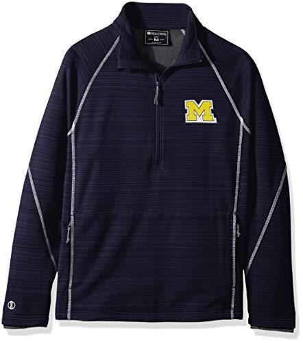 Ouray Sportswear NCAA Michigan Wolverines Deviate Jacke mit 1/4-Reißverschluss, Größe XL, Marineblau