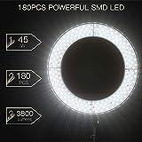 "3200-5500K bi-color Regolabile SMD Flash Anulare Craphy LED Anello Luce Kit 18/"" 48W"