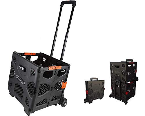 Olympia Tools 85-015-917 Pack-N-Roll 85-015 Grand Fold Up Portable Dolly, 150lbs Capacity, Black