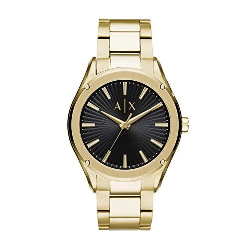 Armani Exchange Herren Analog Quarz Uhr mit Edelstahl Armband AX2801