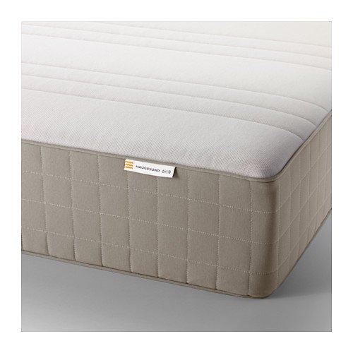 IKEA HAUGESUND Spring mattress (twin size), medium firm, dark beige 1028.22314.634