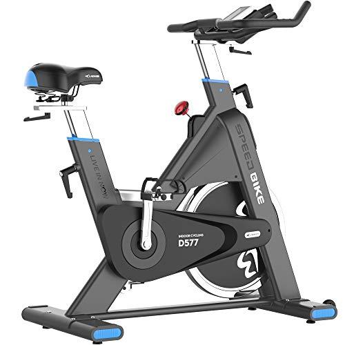 L NOW Indoor Cycling Bike, Belt Drive Indoor Exercise Bike,...