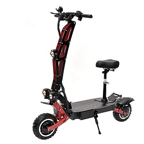 Vespa eléctrica todoterreno, scooter plegable de dos ruedas para adultos, scooter eléctrico delantero y trasero del freno de aceite (60V30AH), duración de la batería 60-70KM